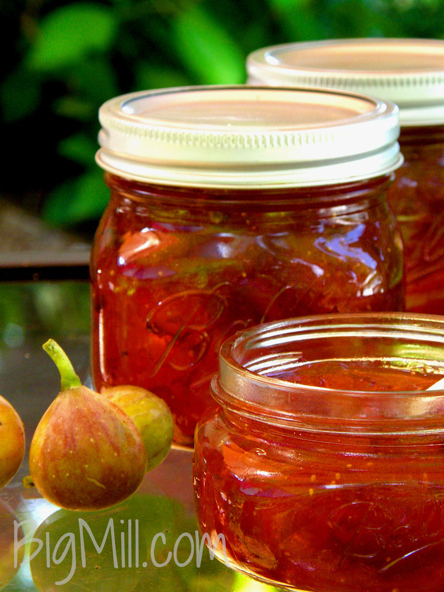 Fig preserves recipe from local figs are the best. Recipe from Chloe at Big Mill | bigmill.com