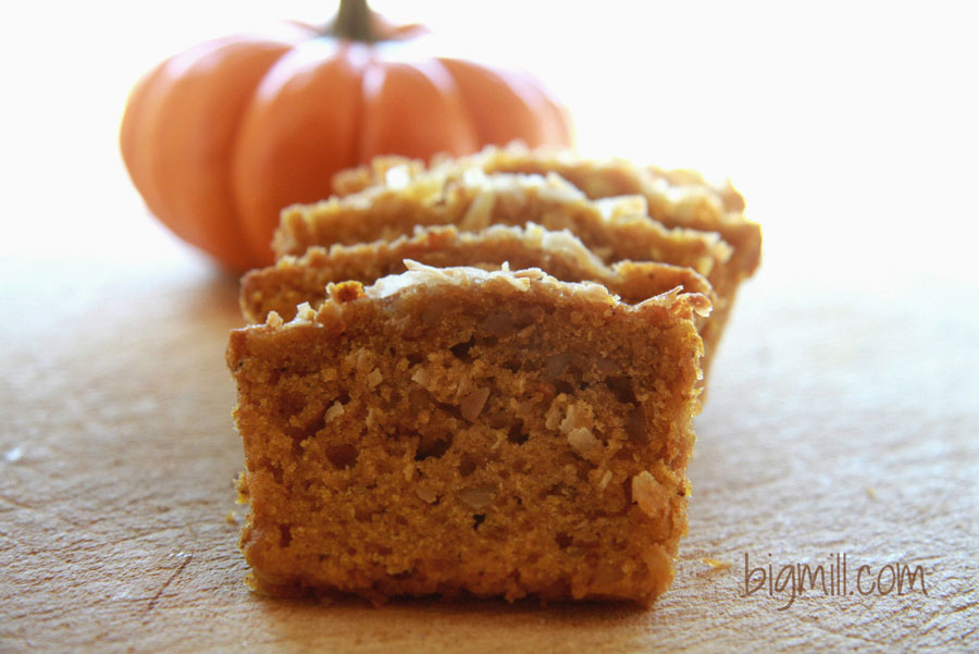 Pumpkin Bread is the perfect bread for any holiday get together. Recipe from Chloe at Big Mill | bigmill.com