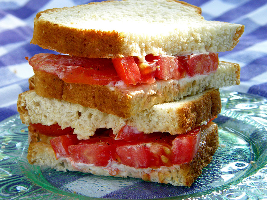nothing says Summer like a fresh Tomato Sandwich. Chloe at Big Mill tells you exactly how southerners make their tomato sandwiches | bigmill.com