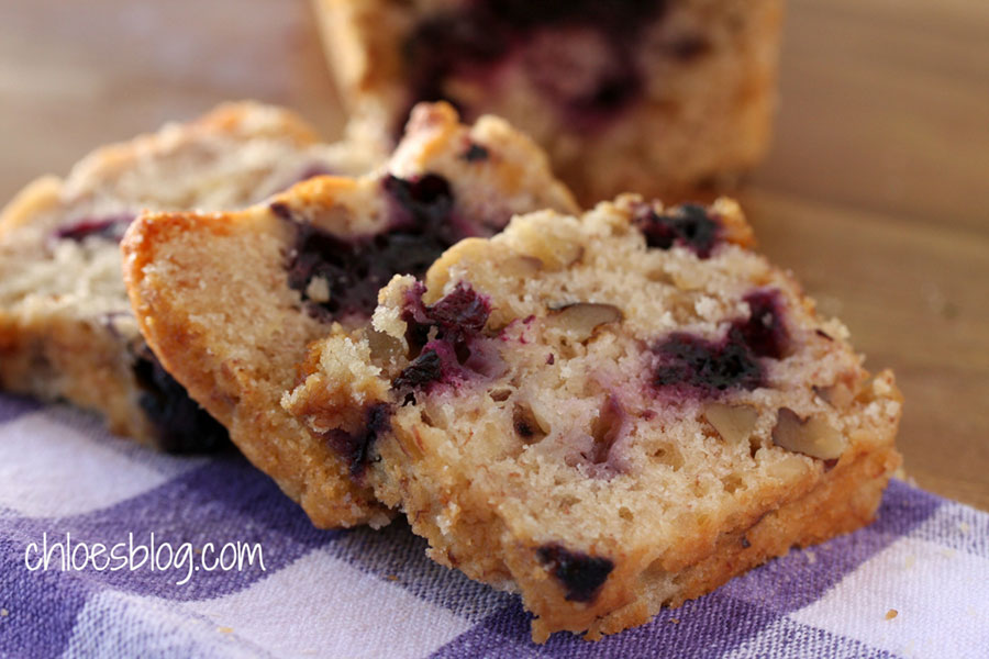 This Banana Bread has a secret ingredient that will surprise you. And guys really like it - almost as much as banana pudding! Spread some of Chloe's Blueberry Jam on it and you won't be able to stop at one slice. Recipe from Chloe at Big Mill | bigmill.com