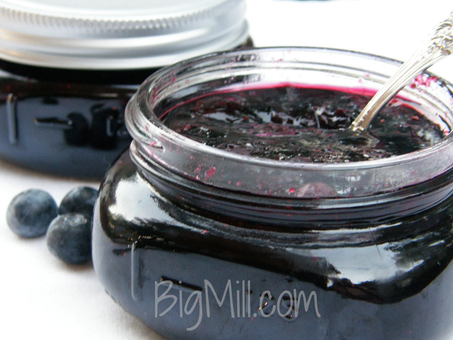 Fresh Blueberries make the best Jam. Recipe from Chloe at Big Mill | bigmill.com